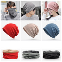 Wholesale cycling caps sun protection for sale - Group buy 32 Styles Warm Hat Beanie Cotton Neckerchief Hats Dual Purpose Cap Scarf Women Men Snood Thermal Winter Ski Cycling Outdoor Hats ZZA1345