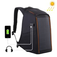 рюкзак оптовых-HAWEEL 12W гибкая солнечная панель питания рюкзак анти-кражи Водонепроницаемый рюкзак сумка для ноутбука 5V / 2.1 a Макс двойной USB-порт для зарядки