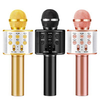 WS858 Bluetooth Karaoke Wireless Microphone For Kids Toys Portable Machine Handheld Mic Speaker Home Party SING