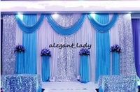 Wholesale draping backdrops for sale - 3m m wedding backdrop swag Party Curtain Celebration Stage Performance Background Drape With Beads Sequins sparkly Edge