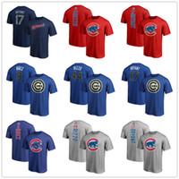 camisetas del logo del equipo al por mayor-Camiseta de béisbol de Chicago Cachorros 9 Baez 44 Rizzo 17 Bryant Camisetas para hombre diseñador Manga corta Fans Tops Camisetas con logotipos de equipos y marcas