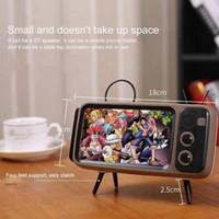 Wholesale sound design stereo speakers resale online - Mini Portable Retro BT Bluetooth Speaker Music TV Design Style Mobile Phone Holder Speaker Stereo Outdoor Sound PTH800