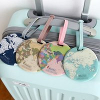 çanta haritası kadın toptan satış-Moda Harita Bagaj Etiketi Kadınlar Seyahat Aksesuarları Silika Jel Bavul KIMLIK Adres Tutucu Bagaj Yatılı Etiketi Taşınabilir Etiket Çanta