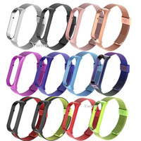 Wholesale apple watch milanese resale online - New Metal Milanese Wrist Strap For Xiaomi Mi band Bracelet strap for xiaomi miband Smart Band Accessories New