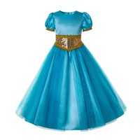 Wholesale elegant costumes resale online - Pettigirl Girls Jasmine Dress Elegant Princess Tulle Dress With Accessories Decorate Wedding Party Girl Costumes G DMGD204 G002