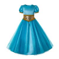 vestidos de casamento de jasmim venda por atacado-Pettigirl Meninas Jasmine Vestido Elegante Princesa Tulle Vestido Com Acessórios Decorar Festa de Casamento Menina Trajes G-DMGD204-G002