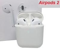 elektronik modüller ücretsiz gönderim toptan satış-perakende kutusu ile pop-up penceresi kulaklıklarla airpod 2 Yeni Kablosuz Şarj kulaklık Nesil 2 kulaklık Supercopy Bluetooth Kulaklık