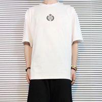 kadın taç toptan satış-19SS BLCG Logo Taç Buğday Kulaklar Baskılı Tee Podyum Sokak Kaykay Klasik T-shirt Erkek Kadın Kısa Kollu Yaz Boy HFYMTX591