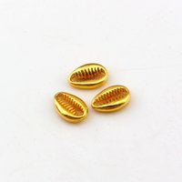 Wholesale necklace for christmas gift for sale - Group buy Fashion Shinning Gold Color Sea Shell Charms Pendant For Women Men DIY Necklace Bracelet Jewelry Accessories Gifts