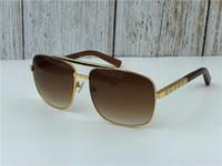 metall gerahmte sonnenbrille großhandel-New Fashion Classic Sonnenbrille Haltung Sonnenbrille Goldrahmen Quadrat Metallrahmen Vintage-Stil Outdoor-Design klassisches Modell 0259