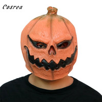 máscara de látex para homens venda por atacado-Máscara Halloween Terror abóbora Cosplay Halloween assustador máscaras de látex Horrible adereços Trajes de festa de Carnaval Homens Mulher