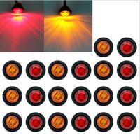 marcadores laterales del coche led rojo al por mayor-20X Mini 3/4
