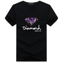 Wholesale skating clothes brands for sale - Group buy New Summer Cotton Mens T Shirts Fashion Short sleeve Printed Diamond Supply Co Male Tops Tees Skate Brand Hip Hop Sport Clothes