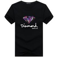 roupa do hip hop do diamante venda por atacado-Novo Verão de Algodão Camisas Dos Homens T Moda Curto-luva Impresso Diamante Fornecimento Co Masculino Tops Tees Skate Marca Hip Hop Roupas Esportivas