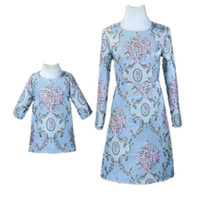 Wholesale plus size mother daughter matching clothes resale online - Mom Daughter Dresses Y Kids Girls Dress Women Plus Size XL Dress Mother Girls Flower Party Dress Family Match Outfits Clothing