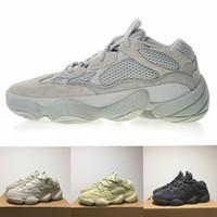 dengeli kadın ayakkabıları toptan satış-Adidas Yeezy 500 boost off white vapormax nmd new balance air jordan basketball sandel designer shoes men Sarı Koşu Ayakkabıları Kanye West Tasarımcı Erkek Kadın Sneaker Ayakkabı