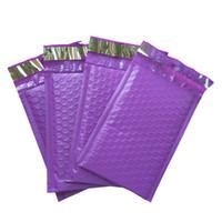 verpackungsblasenumschläge großhandel-Lila Poly Bubble Mailers Gepolsterte Umschläge Selbstsiegelnde Versandumschläge Beutel Pack 50pcs 120 * 180mm 4 * 8 inch