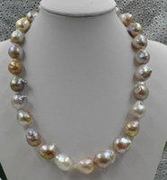 Wholesale rare gold chains resale online - Fine Pearls Jewelry Natural Rare Multicolor mm Kasumi Pearl Necklace