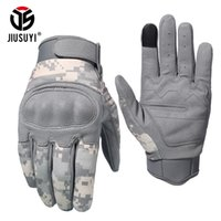 Wholesale tactical airsoft gloves resale online - Fashion Touch Screen Tactical Gloves Military Airsoft Paintball Shot Combat Anti skid Hard Knuckle Full Finger Gloves Men T190618