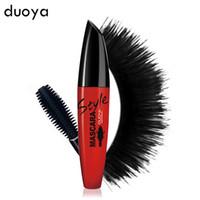 corea marca de maquillaje al por mayor-DUOYA Brand Makeup 3d Fiber Lashes Mascara para pestañas Impermeable Rizado Grueso Tinta negra para pestañas Korea Cosmetics