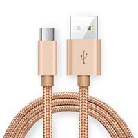 galaxie usb draht großhandel-Micro USB-Telefon Ladekabel Typ C V8-Kabel Unterstützung Fast Charger Pass 2A Metall Data Sync Ladekabel für Samsung Galaxy S8