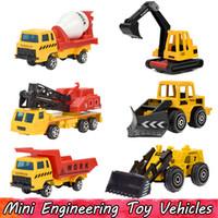 Wholesale children construction toys resale online - 6 Set Mini Alloy Engineering Car Model Toys for Children Dump Truck Toy Diecast Plastic Construction Vehicles Gift For Boys