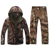 Wholesale waterproof military jacket resale online - Tactical Gear Softshell Camouflage Jacket Men Army Waterproof Warm Camo Clothes Windbreaker Fleece Coat Military Jacket Armband T2190617