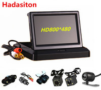 Wholesale foldable tft lcd monitor for sale - Group buy Foldable quot TFT LCD HD800 Screen Car Monitor Reverse Parking monitor with video input Rearview camera optional