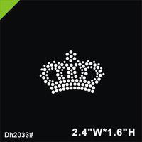 pedrería corona de hierro al por mayor-Envío gratis Mini corona de hierro en cristal de transferencia de transferencia hot fix hotfix piedra diseño hierro en para la camisa, zapatos ba DIY DH2033 #