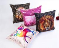 ingrosso cuscino di stampa animale shams-3D Animal Print Tufts Copertura della cassa del cuscino Divano per auto Cuscino Sham Poltrona per soggiorno / studio / sala da pranzo Camera da letto Hotel XA 006