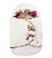 babydecke warme schlafsack großhandel-5 Art Mädchen-Babyschlafsäcke wärmen Steppdeckenpaket europäische Druckmarke neugeborene Schlafsack-Decke Freies Verschiffen