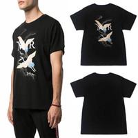 chemises de créateur de mode pour hommes achat en gros de-20SS Designer T-shirt de luxe d'été T-shirt feu de grue Mode Hommes Femmes T-shirts en coton noir à manches courtes Taille S-XXL