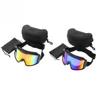 Wholesale double lens ski goggles resale online - Skiing Goggles Men Women Anti fog Double Layer Lens UV Protection Winter Snowboard Skating Skiing Glasses Eyewear Sportswear
