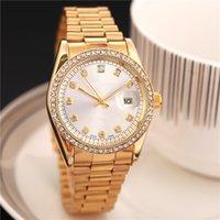 relojes precisos al por mayor-2019 Diamante automático corona reloj superior marca de alta calidad deportivo reloj de oro femenino función de cuarzo posicionamiento preciso reloj de cuarzo