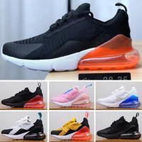 zapatos de moda para niños al por mayor-Nike air max 270 Riginal Niños Entrenadores deportivos Moda Zapatillas de baloncesto para niños Baratos Nuevos bebés niños Niñas con cordones Zapatillas de deporte tamaño 28-35