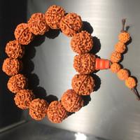 ingrosso yoga gifts-Antico Yoga Buddista Mala Perline di legno Buddha Bracciale Rudraksha Perle di fascino Bracciali Fili per uomini Donne Gioielli Fili regalo