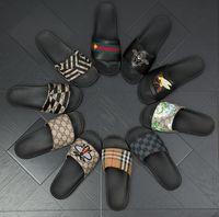 sapata verde do deslizador venda por atacado-Marca designer chinelos, sandálias verde vermelho verde da fita flip-flops designer, slides de design, sapatos de grife, mens praia chinelos G7.20