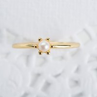 Wholesale simple gold engagement rings for women for sale - Group buy Fashion Simple Crown Ring Design K Gold Plated Pearl Ring For Elegant Women Engagement Wedding Jewelry Accessories Birthday Gift Size