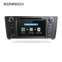 gps para bmw series al por mayor-Xonrich Car Multimedia Player Android 8.1 GPS AutoRadio 1 Din para BMW Serie E88 E87 E82 E81 I20 DVD Automotivo 4 Núcleo Wifi BT