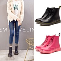 Wholesale pu thigh boots resale online - Hot Brand Men s Boots Martens Leather Winter Warm Shoes Motorcycle Mens Ankle Boot Doc Martins Fur Men Oxfords Shoes Y999