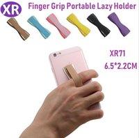 рукоятка пальца оптовых-Творческий Мобильный Телефон Универсальная Ручка Finger Grip Портативный Ленивый Держатель Эластичный Одноручное шнуровке Для Iphone х Samsung S9 Huawei