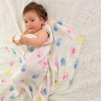druckfarben-musselin großhandel-Musselin-Gaze-Decke INS Double Deck Baumwollmaterial Klimaanlage Decken Weicher Druck Starke und feste Baby Kindheit 13 5bzE1