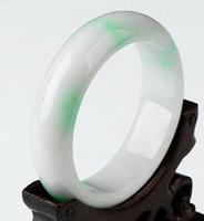 jade verde hielo al por mayor-pulsera Hielo natural waxy pulsera de jade flores femeninas flotando Yang Burma pulsera de jade verde