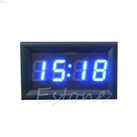 Wholesale digital dashboard cars resale online - Hot Sale LED Display Digital Clock V V Dashboard Car Motorcycle Accessory