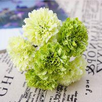 buquê de flores de cravo venda por atacado-6pcs seda vasos flor do casamento da noiva do casamento para a decoração falsos Cravos flores de plástico artificiais caem flor do casamento vívida