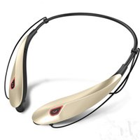 Wholesale headphones headset sport mp3 player resale online - Wireless CSR neck mounted stereo Bluetooth headset music headphones sports voice activated hanging neck hands free earbuds MP3 media player