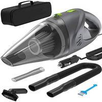 araba filtre temizleyici toptan satış-120 W 12 V Araba Elektrikli Süpürge 4500 Pa Emiş Gücü 16 Ayak Güç Kablosu Çelik Yıkanabilir Filtre Araba Süpürge Islak Kuru