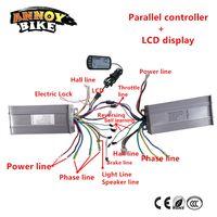 controlador bldc al por mayor-Controlador ebike BLDC 2 con LCD 36V48V 500W 800W1000W Controlador paralelo y kit de conversión de bicicleta para doble motor Motor # 242900