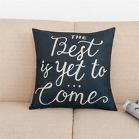 Wholesale blue plaid pillows for sale - Group buy Flax Letter Pillow Cover Keep Calm And Carry On Home Sweet Square Pillow Case Blue White Hotel Office Sofa Pillow Covers sdD1
