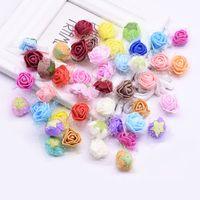 Wholesale mini foam wreaths resale online - 200pcs cm Mini Tiny Lace Foam Rose Heads Artificial Flowers DIY Scrapbooking Wedding Wreath Decoration Supplies Handmade Crafts